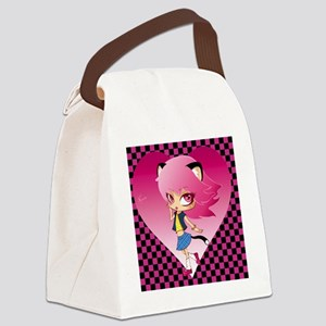 nyan pattern Canvas Lunch Bag