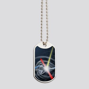Coulomb explosion simulation Dog Tags