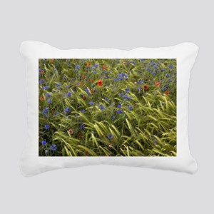 Cornfield meadow in Fran Rectangular Canvas Pillow