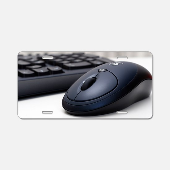 Cordless mouse and keyboard Aluminum License Plate