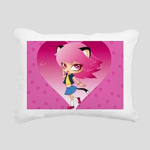 Nyan stars Rectangular Canvas Pillow