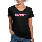 HELPMEET Women's V-Neck Dark T-Shirt
