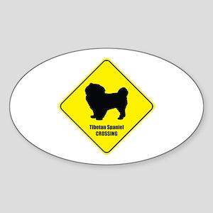 Tibetan Crossing Oval Sticker