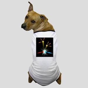 Computer art of a positron-electron co Dog T-Shirt