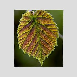 Common hazel leaf Throw Blanket