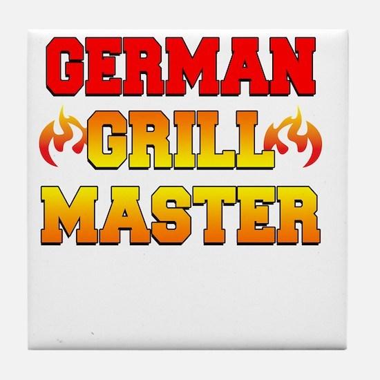 German Grill Master Dark Apron Tile Coaster