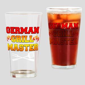 German Grill Master Dark Apron Drinking Glass