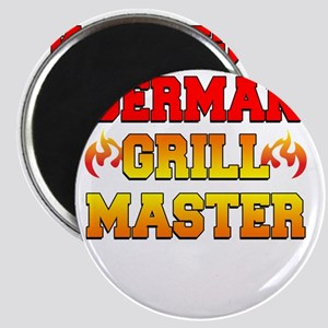 German Grill Master Dark Apron Magnet