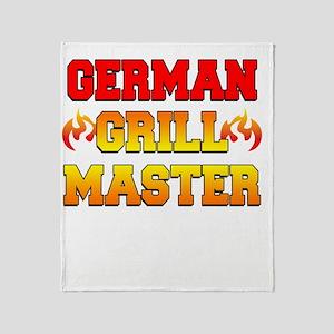German Grill Master Dark Apron Throw Blanket