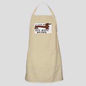 I love my Itty Bitty Weiner BBQ Apron