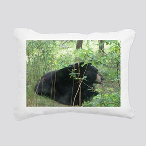 Black Bear 1 Rectangular Canvas Pillow