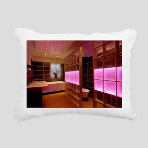 Coloured LED bathroom li Rectangular Canvas Pillow