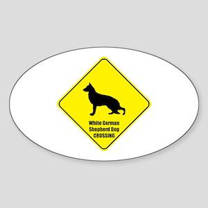Shepherd Crossing Oval Sticker