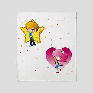 Nyan pyon shower_curtain Throw Blanket