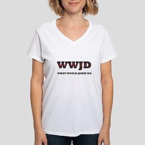 WWJD Women's V-Neck T-Shirt