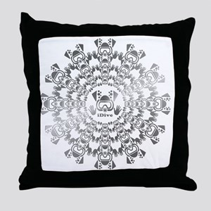 iDive Silver Throw Pillow
