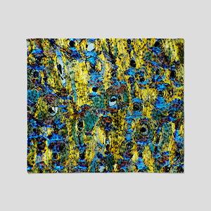 Compact bone, light micrograph Throw Blanket