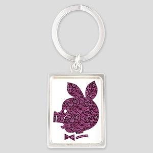 Pyatochok sexy pink lace dark Portrait Keychain