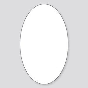 Pyatochok sexy white Sticker (Oval)