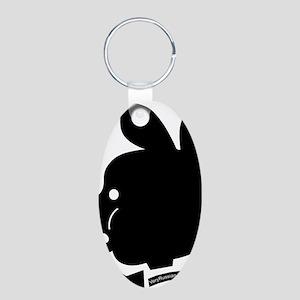 Pyatochok sexy black Aluminum Oval Keychain