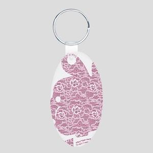 Pyatochok sexy pink lace li Aluminum Oval Keychain