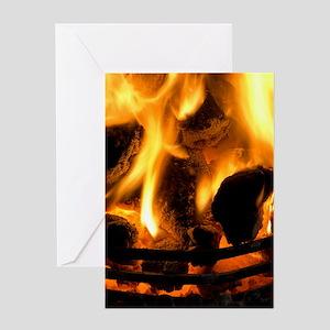 Coal fire Greeting Card