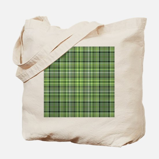 Green Plaid 4 Tote Bag