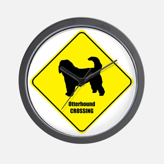 Otterhound Crossing Wall Clock