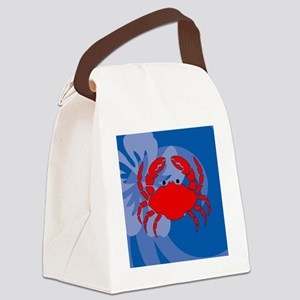 Crab Coaster Canvas Lunch Bag
