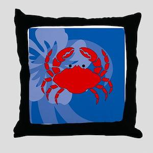 Crab Coaster Throw Pillow