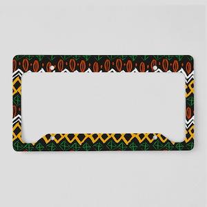 autumn native pattern License Plate Holder