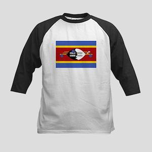 Swaziland Flag T Shirts Kids Baseball Jersey