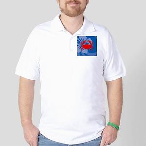 Crab Square Car Magnet Golf Shirt