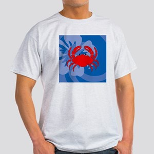 Crab Square Car Magnet Light T-Shirt