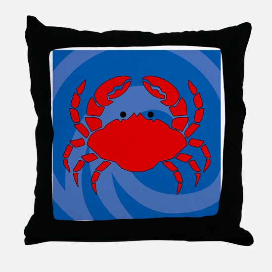 Crab Shower Curtain Throw Pillow