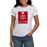 Keep Calm And Luv A Chin T-Shirt