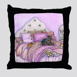 Sighthounds slumber party Throw Pillow