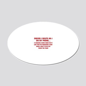 phoneAppTeam1D 20x12 Oval Wall Decal