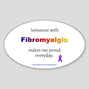 """Fibromyalgia"" Oval Sticker"