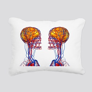 Circulatory system and b Rectangular Canvas Pillow