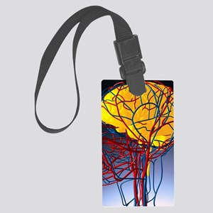 Circulatory system and brain, ar Large Luggage Tag