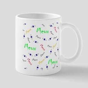 Animal cat eyes colorful meow cute design kid Mugs