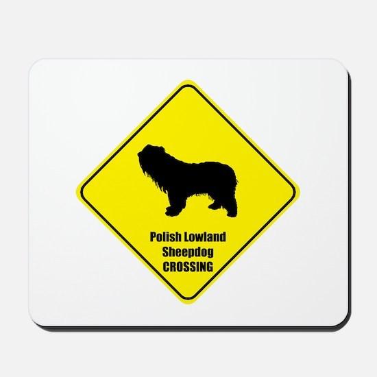 Sheepdog Crossing Mousepad