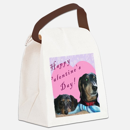 Happy Valentines Day Canvas Lunch Bag