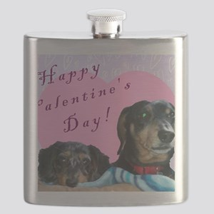 Happy Valentines Day Flask