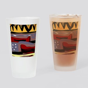 Abstract Red Canoe Drinking Glass