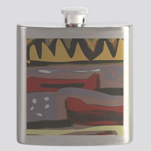 Abstract Red Canoe Flask