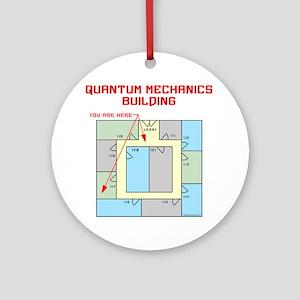Quantum Mechanics Building Ornament (Round)