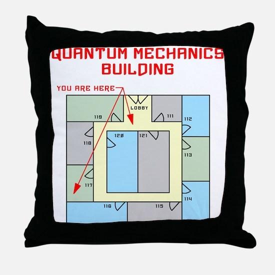 Quantum Mechanics Building Throw Pillow