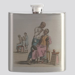 Chinese acupuncture, artwork Flask